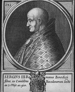XVII c. engraving of Sergius III, total pornocrat